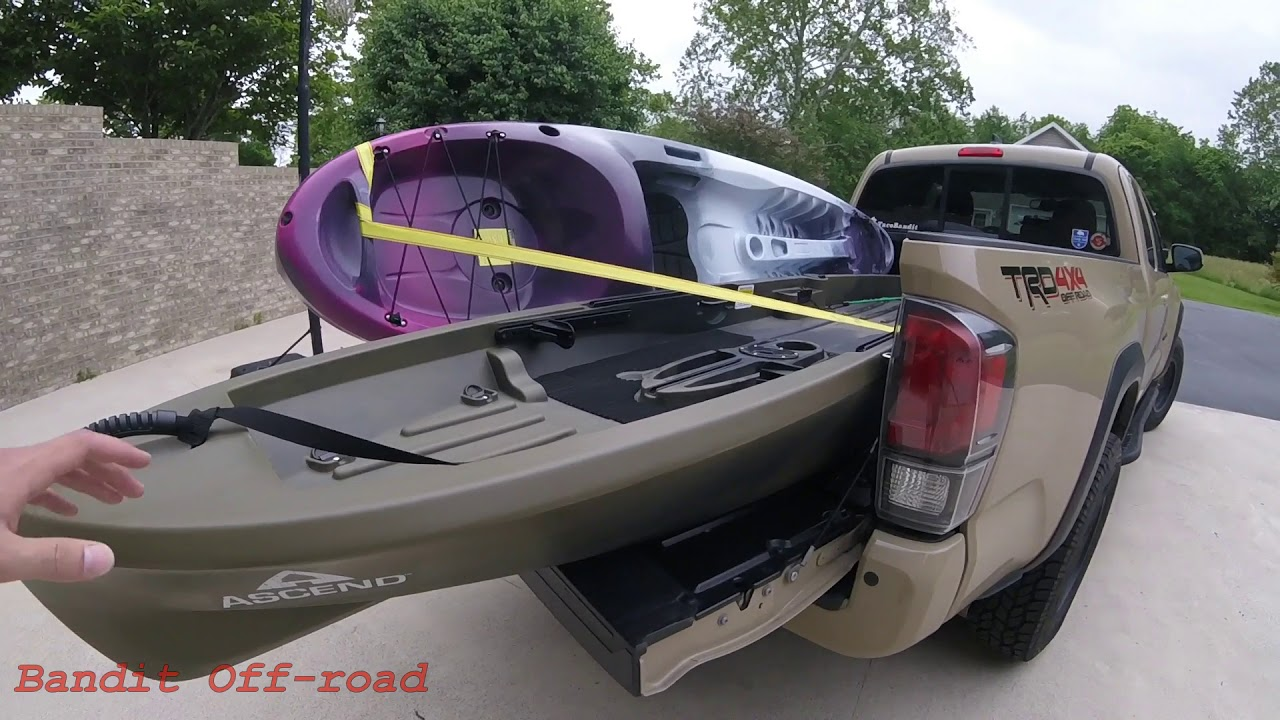 no bed racks needed how to haul kayaks in your tacoma