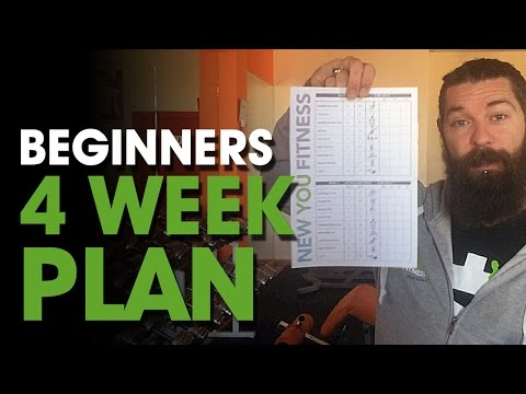 Beginners 4 Week Plan⎟1 Month Training Program