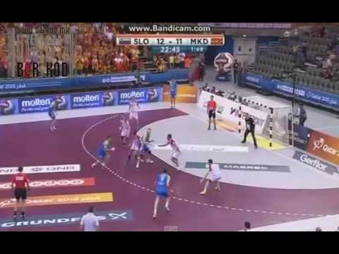 Slovenia - Macedonia 30:28 All Goals Qatar Handball 2015
