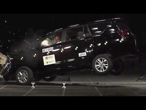 Crash Test Toyota Innova 2016 | All New Toyota Innova Crysta Crash Test 2016