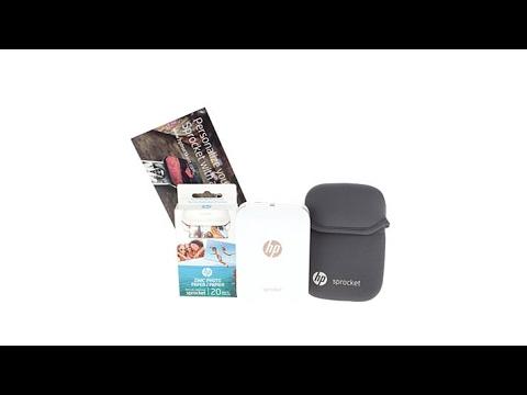 HP Sprocket Portable Photo Printer Bundle