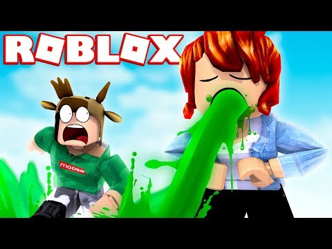 ROBLOX PUKING SIMULATOR! (ESCAPE THE GIANT PUKING GIRL!) #Roblox