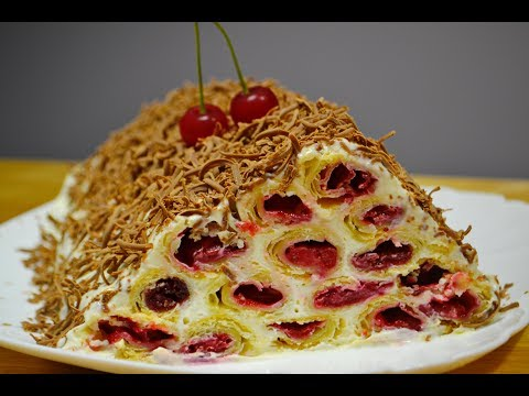Сметанный Торт с Вишней Монастырская Изба |Cake with Cherry