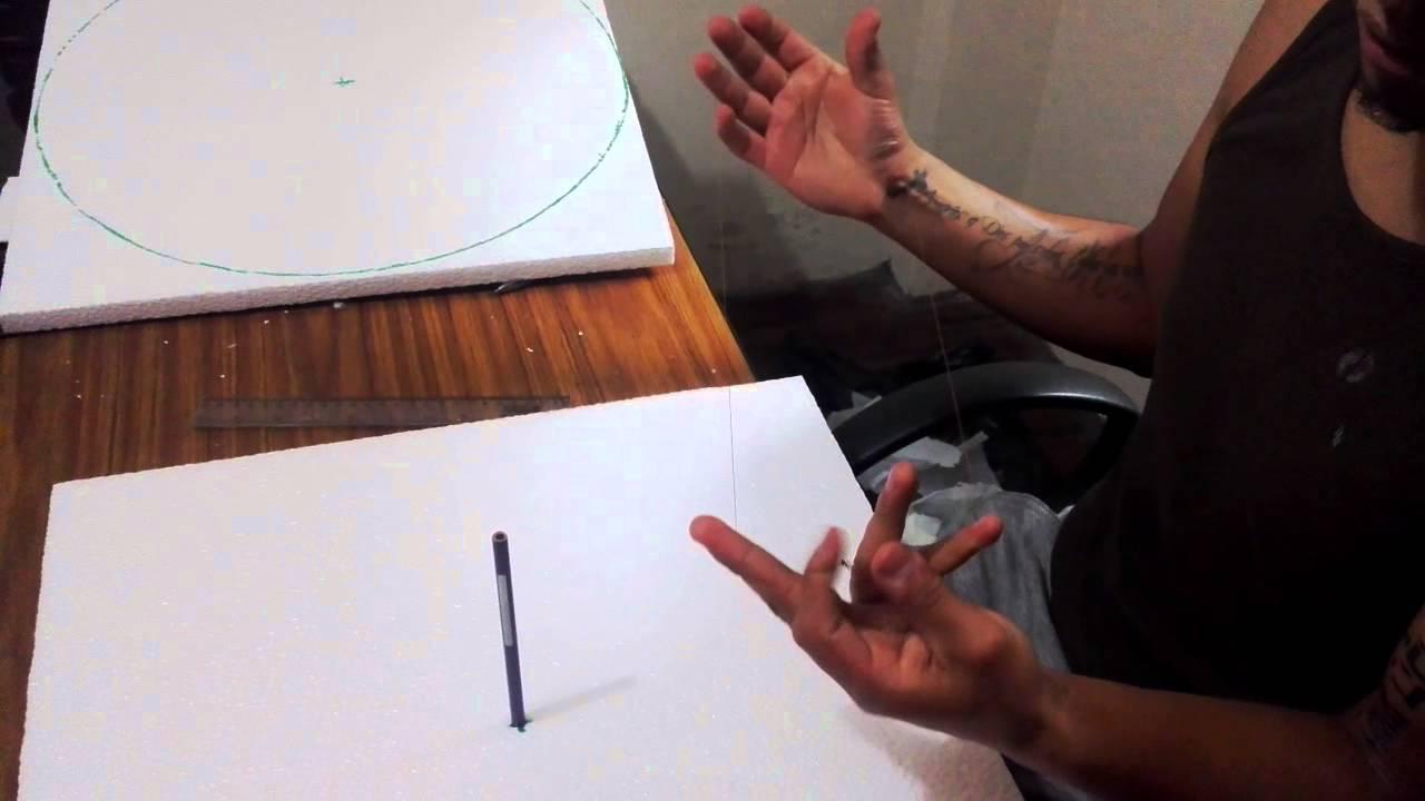 Como hacer un compas casero con hilo y un lapiz youtube for Como hacer un toldo casero