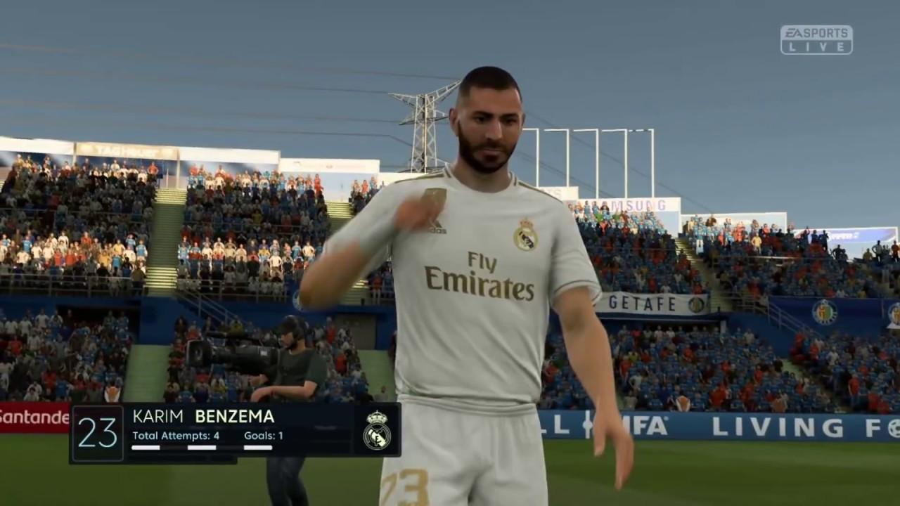 Fifa 20 Gamelay Getafe Vs Real Madrid Highlights Joey Gaming