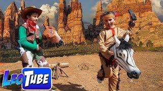 LeoTube usa el Pausa Challenge para escapar del Sheriff Mikel