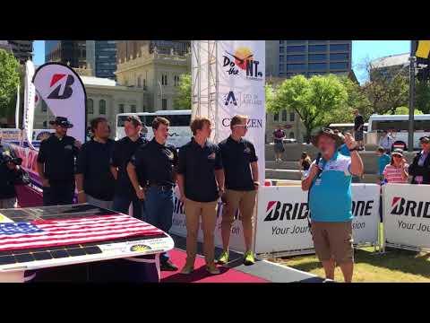 RA X of Principia Solar Car from USA at Bridgestone World Solar Challenge 2017