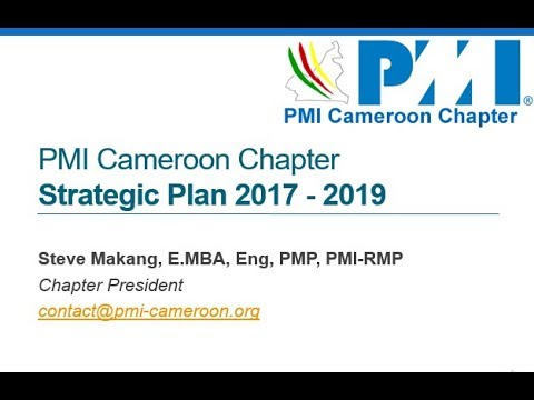 2017   2019   PMI Cameroon Chapter Strategic Plan