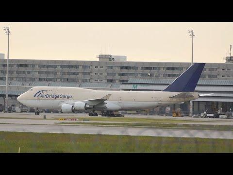 Air Bridge Cargo Airlines ABC Boeing 747-481 TF-AMP arrival at Munich Airport Flughafen München