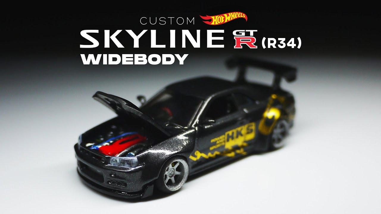 Nissan Skyline GT-R R34 Wide Body Custom Hot Wheels