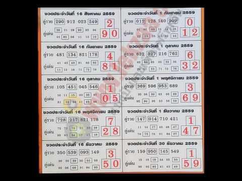เลขเด็ด หวยเด็ด หวยซอง บอกลาภ ด้วยตัวเลข (เลขเด็ด 12 งวด) งวดที่ 16/10/59
