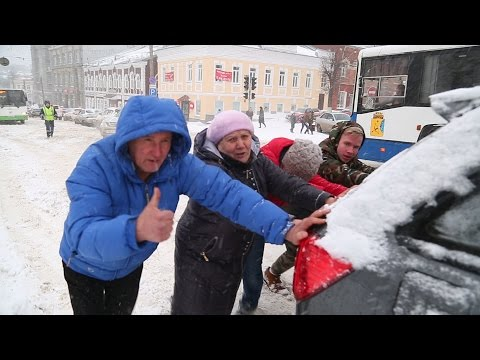 Вятка зимой (снегопад в Кирове 20 апреля 2017 г.)