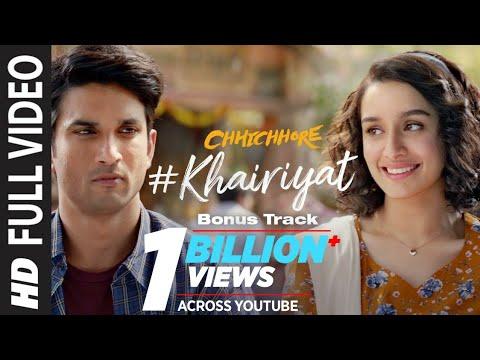 full-song:-khairiyat-(bonus-track)-|-chhichhore-|-sushant,-shraddha-|-pritam,-amitabh-b|arijit-singh