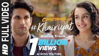 "Presenting the full video ""khairiyat (bonus track)"" from bollywood movie ""chhichhore"". film is directed by nitesh tiwari and produced sajid nadiad..."