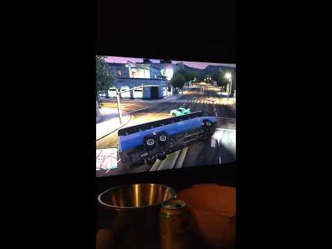 Gta 5 hacker drives the lobby in chrome bus