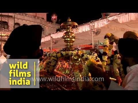 Sikh devotees gather at Golden Temple, Amritsar - Punjab