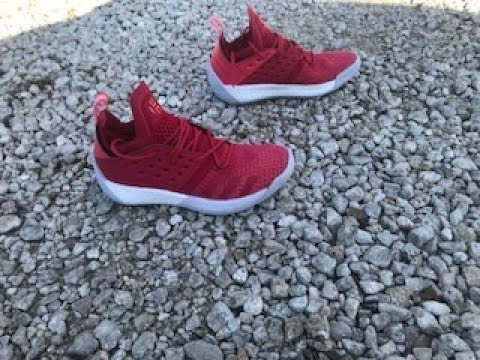 d12a56085916 HARDEN VOL 2 RED ADIDAS EXCLUSIVE ON FOOT - YouTube