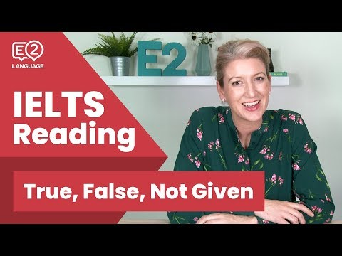 E2Quiz: IELTS Reading T/F/NG Practice Questions - PTE, OET