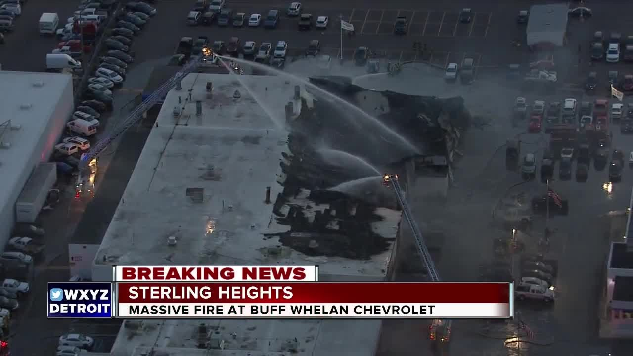 Large Fire Destroys Part Of Buff Whelan Chevrolet In Sterling Heights