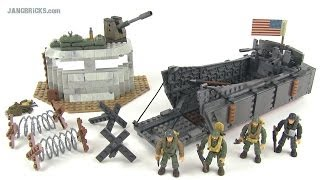 Mega Bloks Call of Duty 6829 Landing Craft Invasion WWII set r…