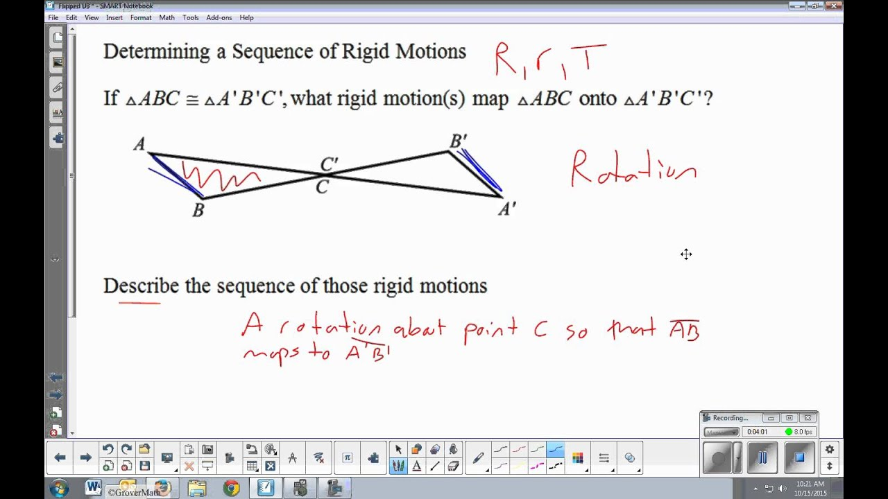 Sequences of Rigid Motions