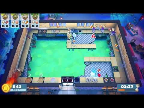 Overcooked! 2 - Night of the Hangry Horde - World 2-Kevin2 - 3 Stars |