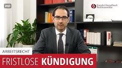 Was rechtfertigt eine fristlose Kündigung? - Kanzlei Hasselbach