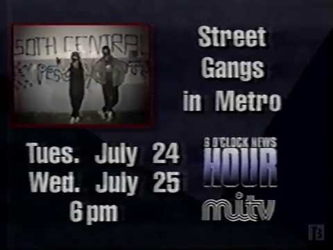 MITV - News Hour Bumper on Halifax Street Gangs 1990