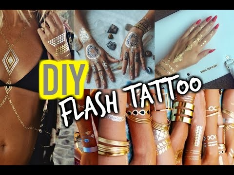 DIY Flash Tattoos | Tumblr Inspired
