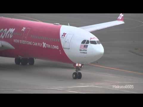 AirAsia X Airbus A330-343 9M-XXQ Landing & Take Off At Nagoya