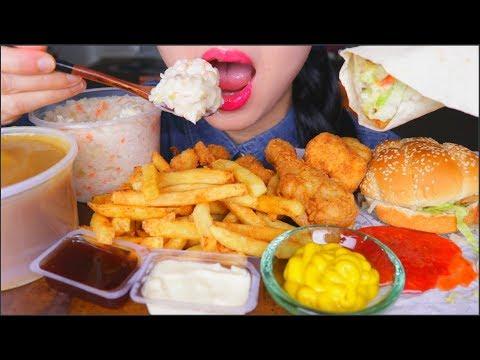 ASMR KFC FEAST | BURGER | POPCORN CHICKEN | COLESLAW | FRIED CHICKEN | FRIES | EATING SOUNDS