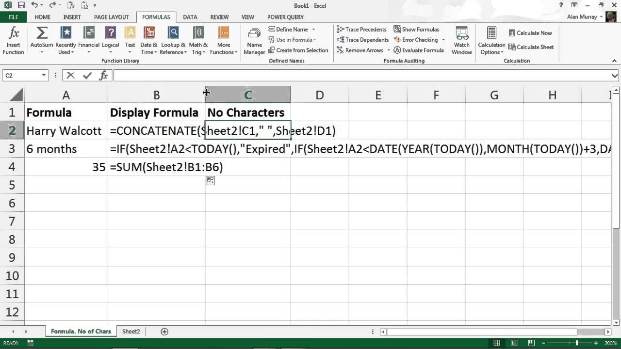 How To Use The FORMULATEXT Function In Excel
