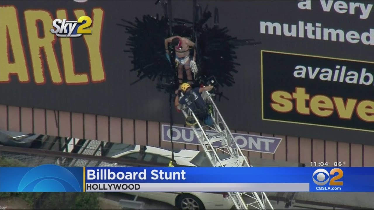 Steve-O Taken Down After Taping Himself To Hollywood Billboard