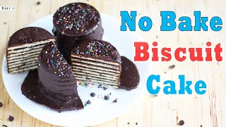 No Bake Biscuit Cake Recipe | Chocolate Biscuit Cake | Mintsrecipes