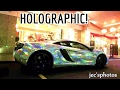 Stunning Holographic Chrome McLaren MP4-12C Driving Off at Night