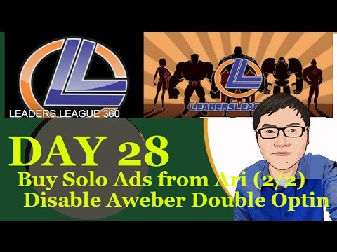 Solo Ads Update and Disable Aweber Double Optin function