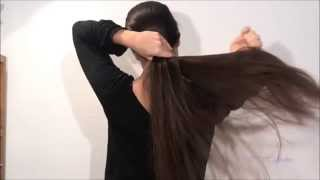 [Hair care] After hair wash: Drying, oiling and detangling