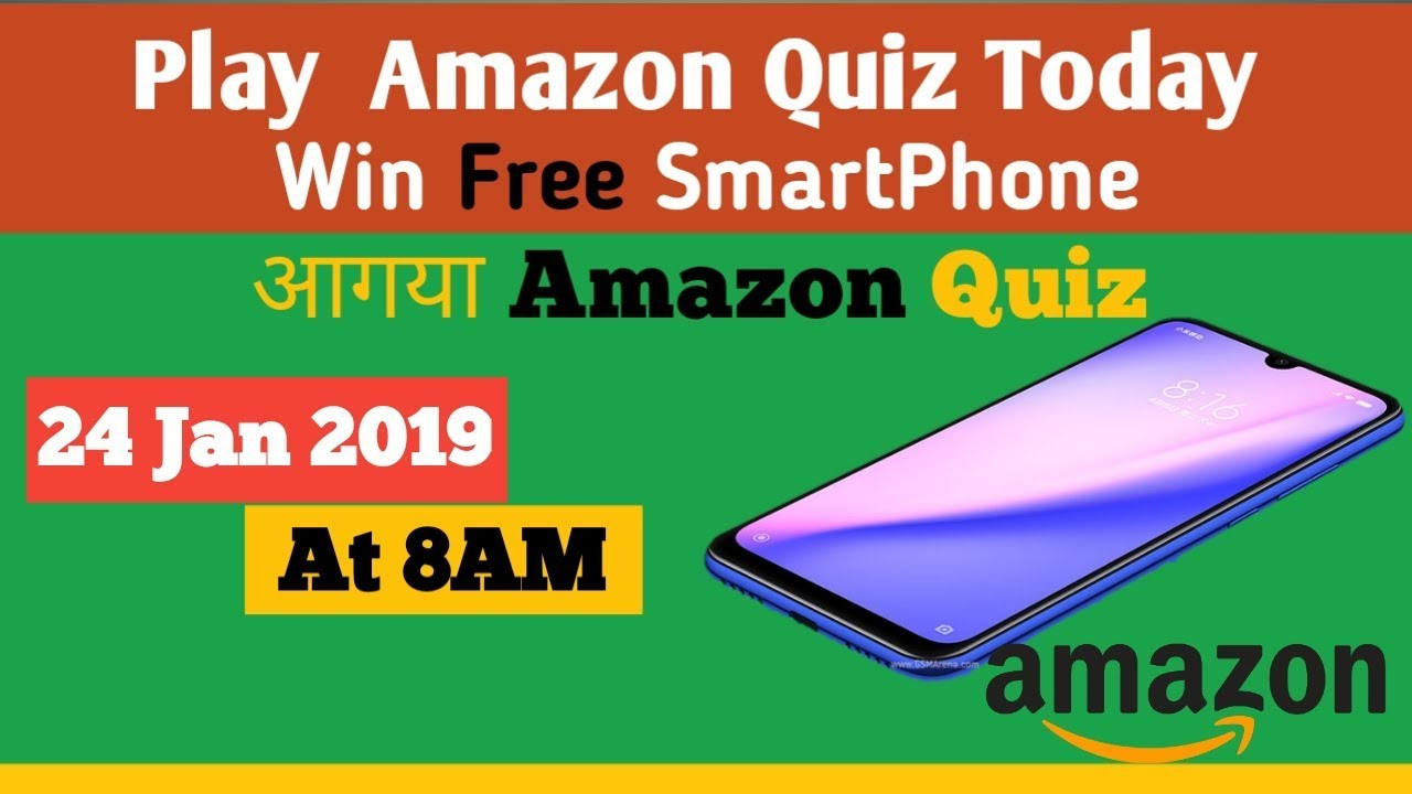 AMAZON Quiz Answer Today | 24 January 2019 | AMAZON Quiz Today Answers