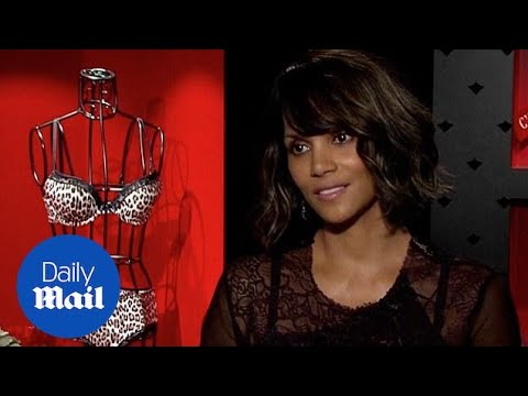 c850258c6 Halle Berry launches Paris-inspired lingerie line - Daily Mail - YouTube