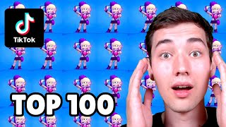 TOP 100 TIKTOK in BRAWL STARS! 😯