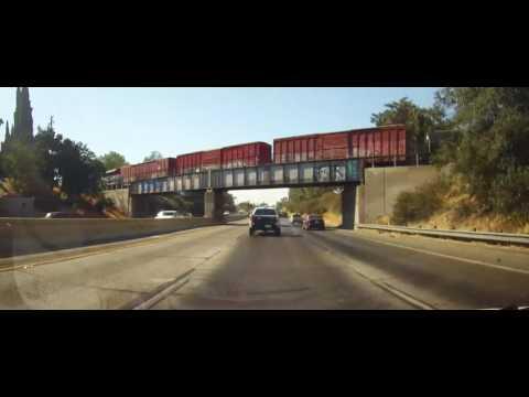 Driving around Fresno, California