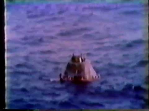 Skylab 2 Part 11 NASA Footage of Splashdown