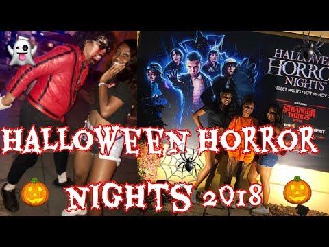 HALLOWEEN HORROR NIGHTS VLOG 2018 | WE SAW ELEVEN?!