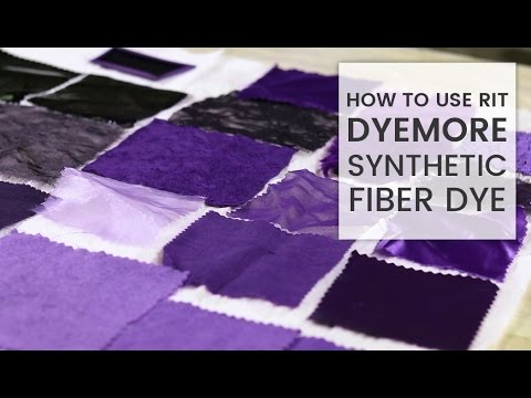 How to Dye Fabric Rit DyeMore Synthetic Dye - YouTube