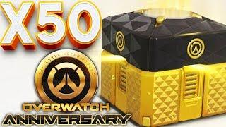 *NEW* 50X LOOT BOX OPENING OVERWATCH ANNIVERSARY 2018! l Overwatch Loot Box Opening
