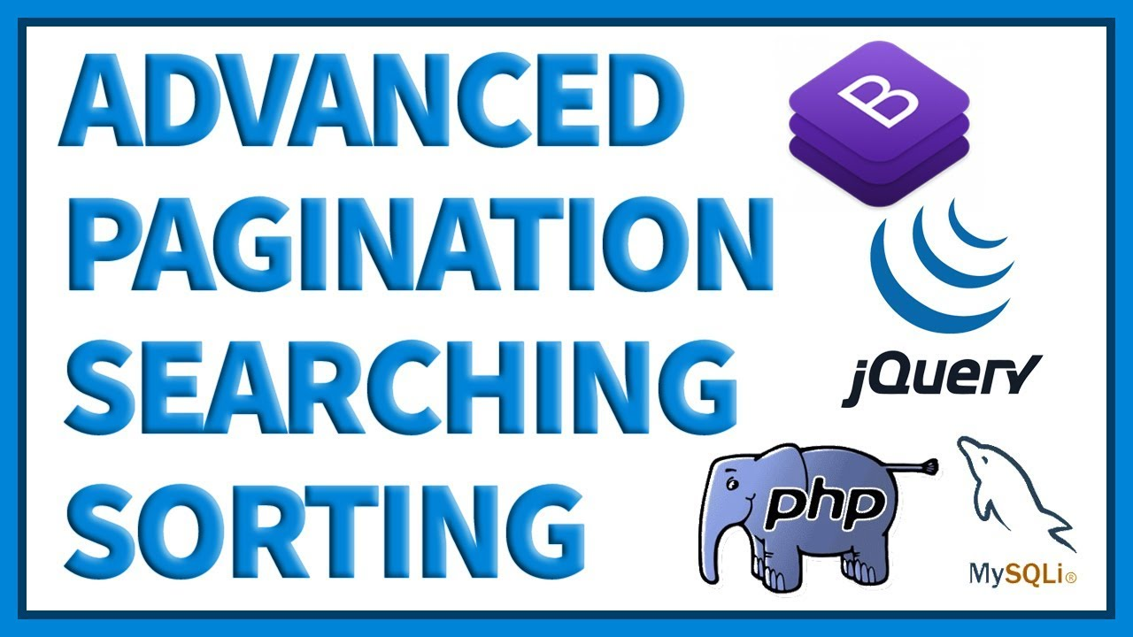 Advanced Pagination, Live Searching & Sorting of Records Using PHP, MySQLi  & jQuery DataTable
