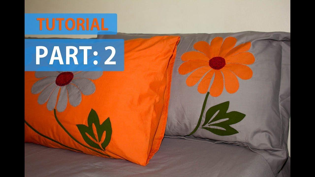Tutorial 2 Applique Aplic Work Design Hand Made Bed