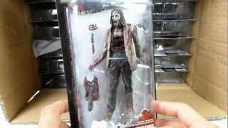 CASE Unboxing video - THE WALKING DEAD tv series 3 ACTION FIGURES from McFarlane Toys