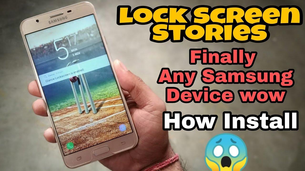 Finally Lock Screen Stories Any Samsung Device How Install Hindi Youtube