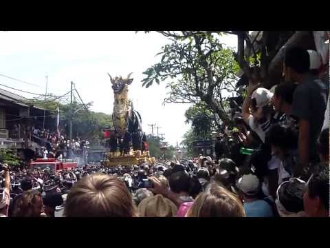 Cremation of the mother of the Queen of Bali.